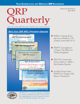 QRP Quarterly - April 2016