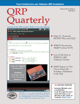 QRP Quarterly - Fall 2013